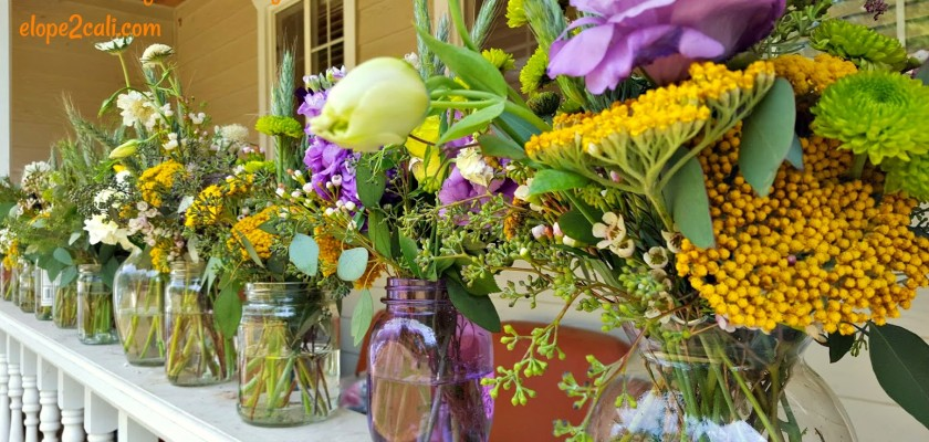 DIY Floral Design Class - Summer Mason Jar Centerpiece