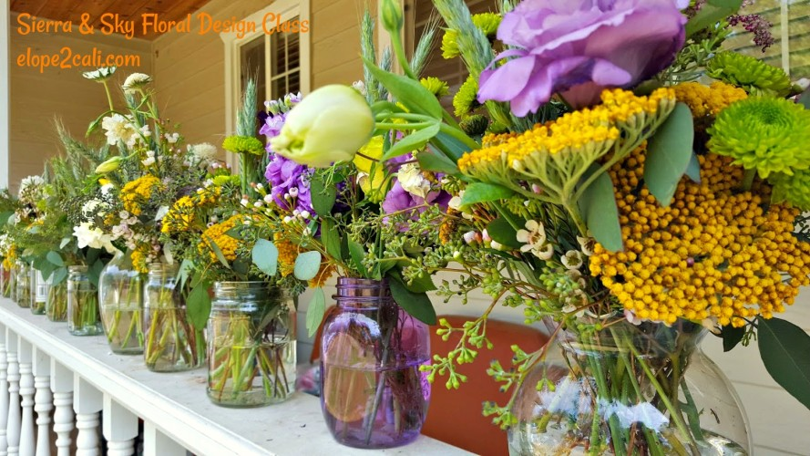 DIY Floral Design Class - Summer Mason Jar Centerpiece