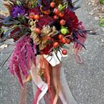 Steampunk wedding bouquet for Northern California Halloween wedding