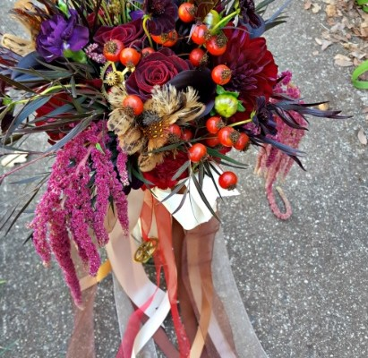 Halloween Wedding / Nevada City, CA / Secular Wedding Officiant / Steampunk Wedding Flowers